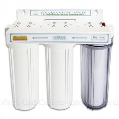 3-х ступенчатый фильтр для доочистки питьевой воды «Водолей-БКП» описание, отзывы