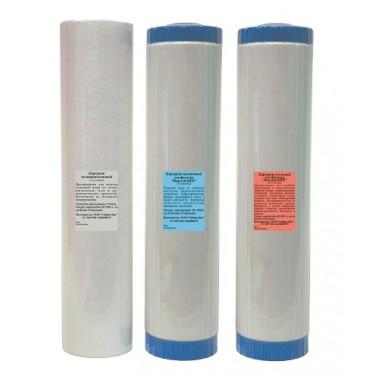 Комплект картриджей для высокопроизводительного фильтра «Водолей-БКП» описание, отзывы