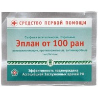 Салфетка стерильная, антисептическая, ранозаживляющая «Эплан»® от 100 ран»®