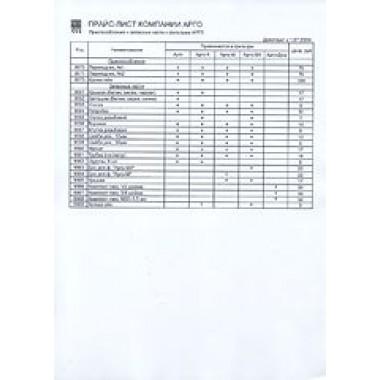 Прайс-лист с региональным коэффициентом (код  9600) описание, отзывы
