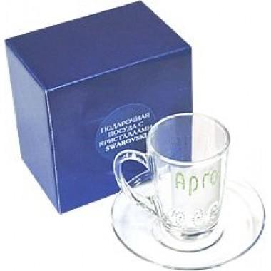 Чайная пара Сваровски  (код  9140) описание, отзывы