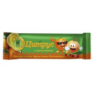 Батончик фруктовый «Цитрус» с апельсином описание, отзывы