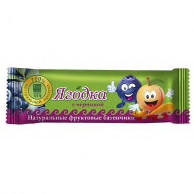 Батончик фруктовый «Ягодка» с черникой описание, отзывы
