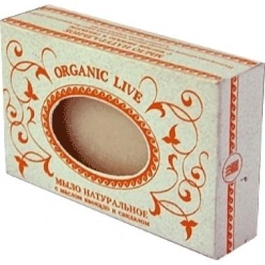 Натуральное мыло «Organic Live», с маслом авокадо и сандала описание, отзывы
